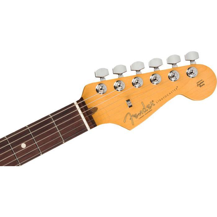 Fender Am Pro 2 Strat HSS Dark Night Headstock