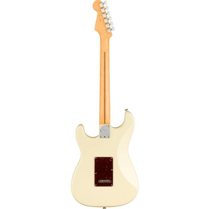 Back of Fender American Professional II Stratocaster Olympic White