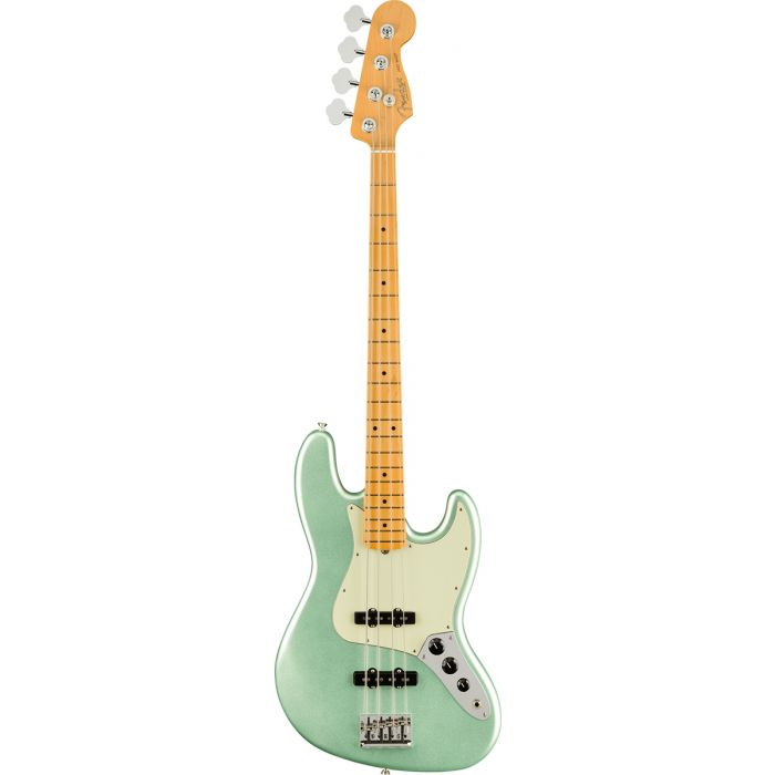 Fender American Professional II Jazz Bass Mystic Surf Green Full Front View