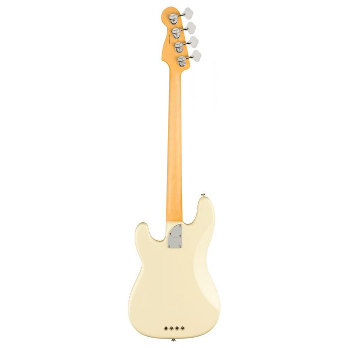 Full rear view of a Fender American Professional II Precision Bass RW, Olympic White