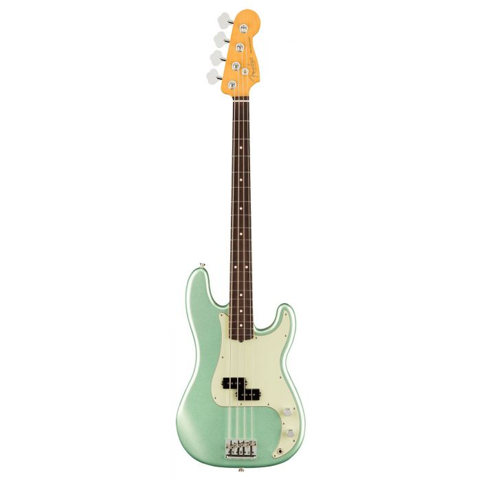 Full frontal view of a Fender American Professional II Precision Bass RW, Mystic Surf Green