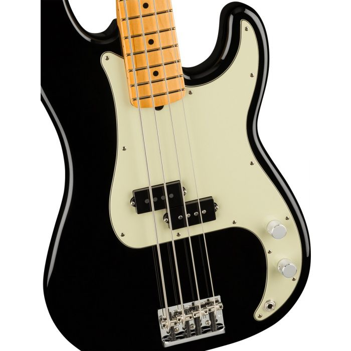Fender American Professional II Precision Bass Black MN Body Front