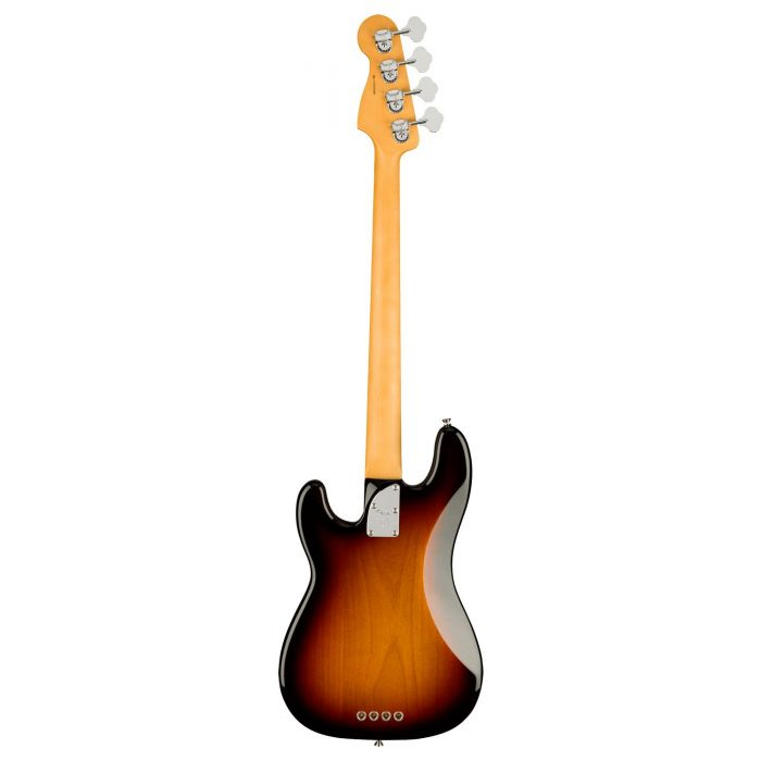 Full rear view of a Fender American Professional II Precision Bass MN, 3-Color Sunburst