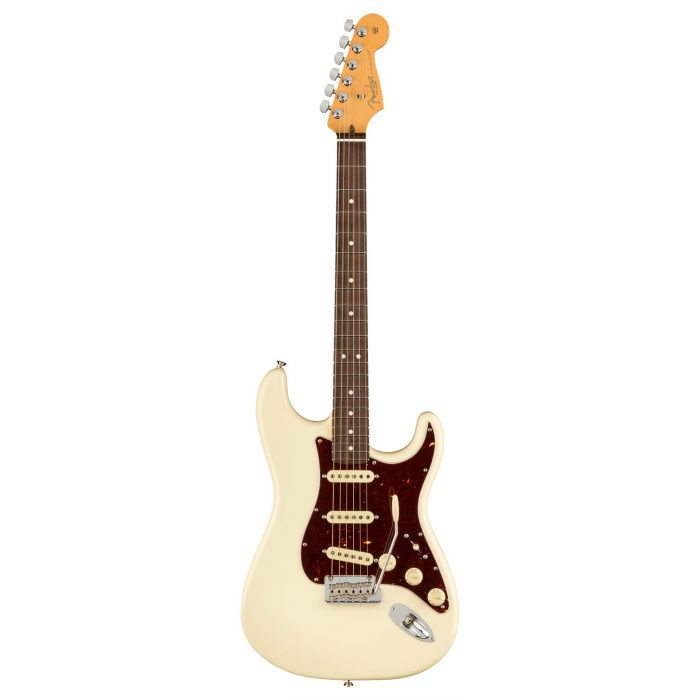 Full frontal view of a Fender American Professional II Stratocaster RW, Olympic White