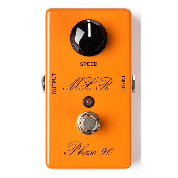 Top-down view of an MXR CSP-101SL Script Phase 90 Phaser Pedal