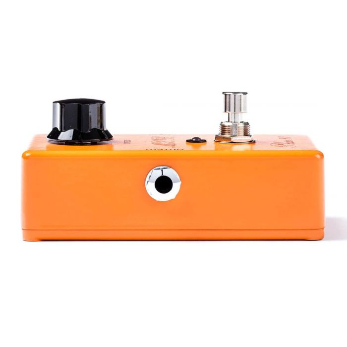 Left-side view of an MXR CSP-101SL Script Phase 90 Phaser Pedal