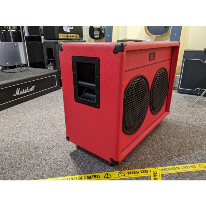 Side of Pre-Loved Zilla Fatboy 2x12 Guitar Cab