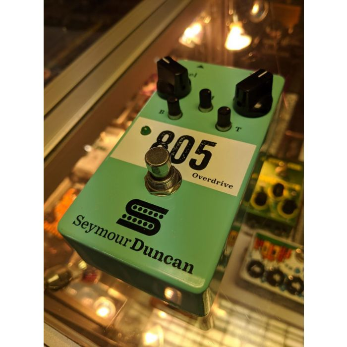 Angled View of Pre-Loved Seymour Duncan 805 Overdrive Pedal