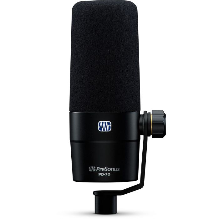 Front view of a Presonus PD-70 Broadcast Dynamic Microphone