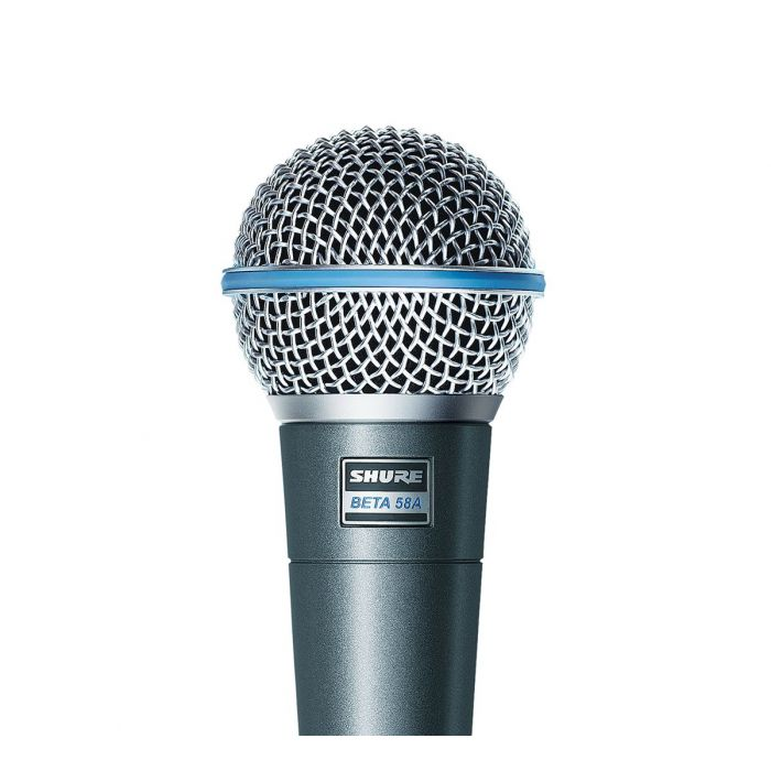 Close Up of Shure Beta 58A Dynamic Microphone