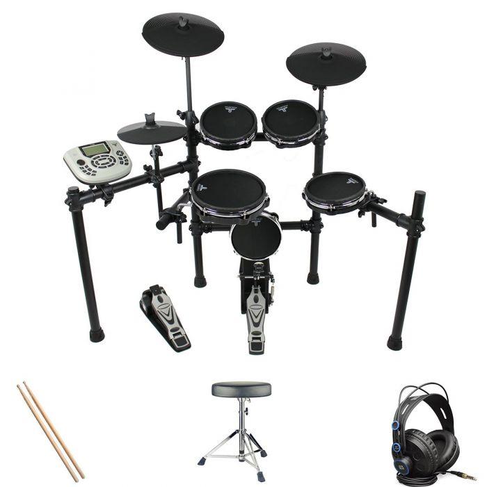 Tourtech TT-22M Electronic Drum Kit Headphone Bundle