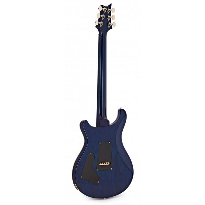 Full rear view of a PRS 35th Anniversary Custom 24 in Violet Blueburst