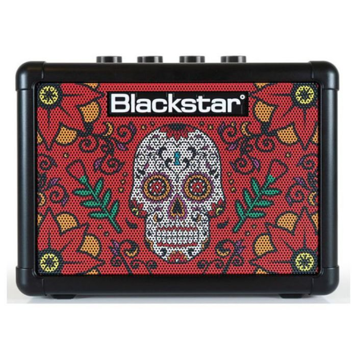 Full front view of a Blackstar FLY3 Sugar Skull 2 3w Battery Powered Combo
