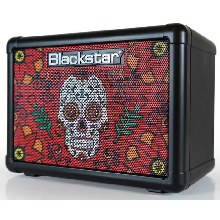 Front left angled vie wof a Blackstar FLY3 Sugar Skull 2 3w Battery Powered Combo