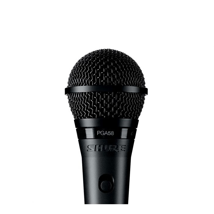 Shure PGA58 Vocal Microphone with XLR Cable Detail View
