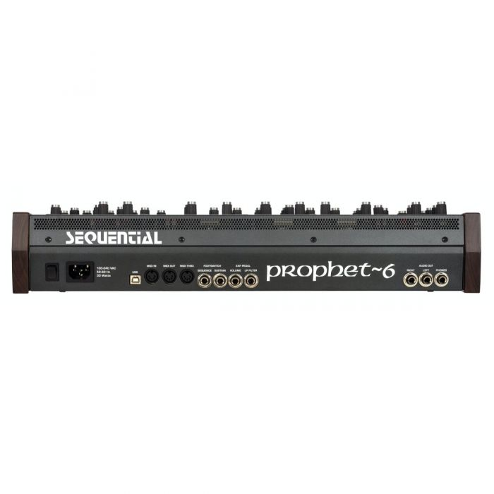 Rear View of Sequential Prophet-6 Desktop Polyphonic Analogue Synthesizer Module