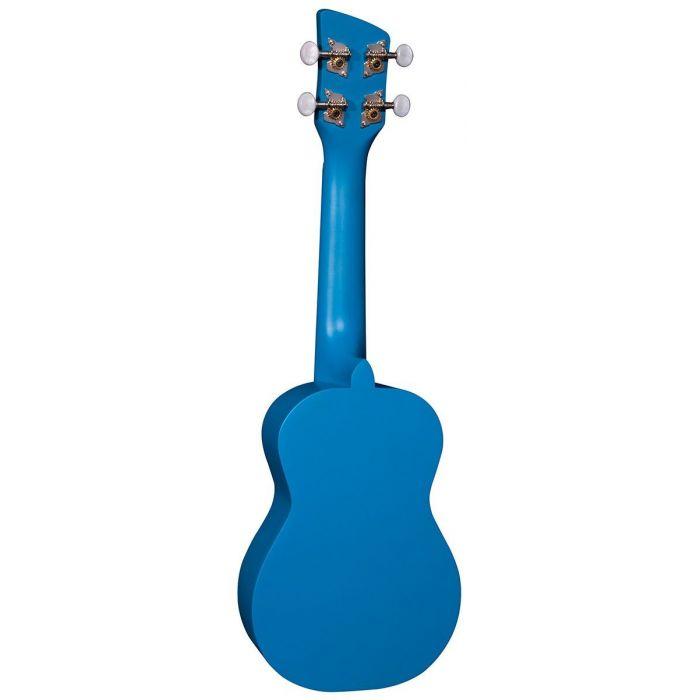 Back of Brunswick Soprano Ukulele Blue Satin