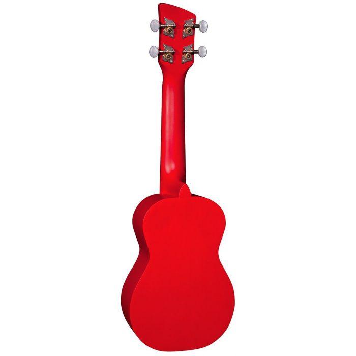 Back of Brunswick Soprano Ukulele Red Satin