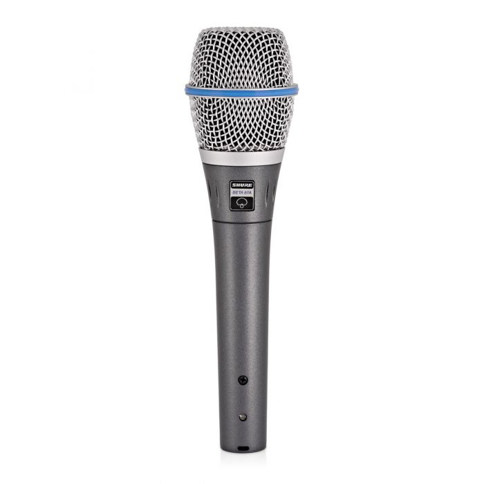Shure Beta 87A Condenser Microphone Side with button View