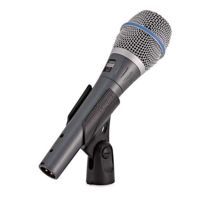 Shure Beta 87A Condenser Microphone In Clip