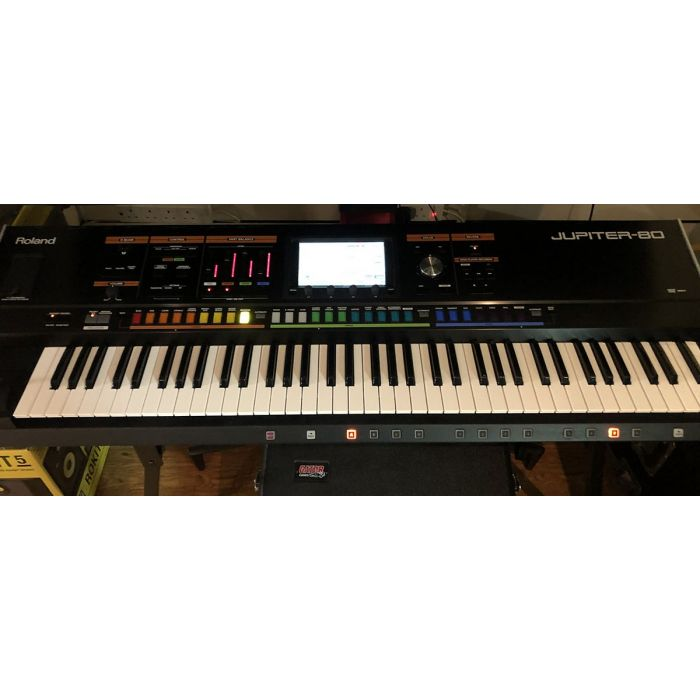Full frontal view of a Pre-Loved Roland Jupiter-80 76-Key Synthesizer