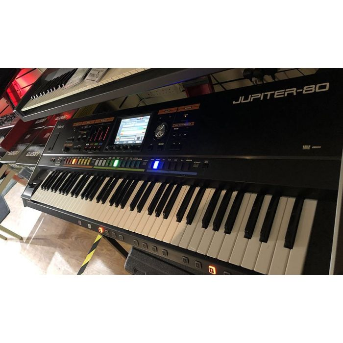 Front angled view of a Pre-Loved Roland Jupiter-80 76-Key Synthesizer