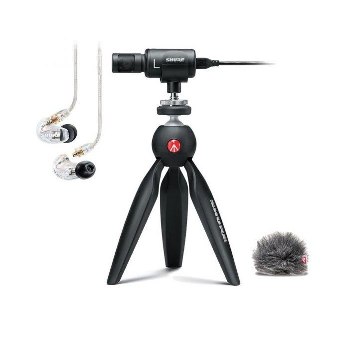 Shure Motiv MV88+ Video Kit with SE215 Earphones