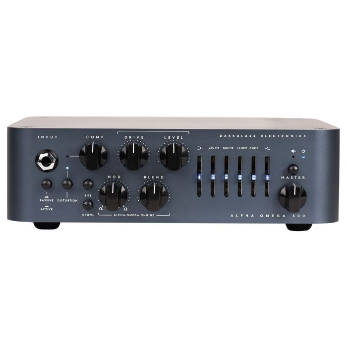Full front view of a Darkglass Electronics AlphaOmega 500 Bass Amp