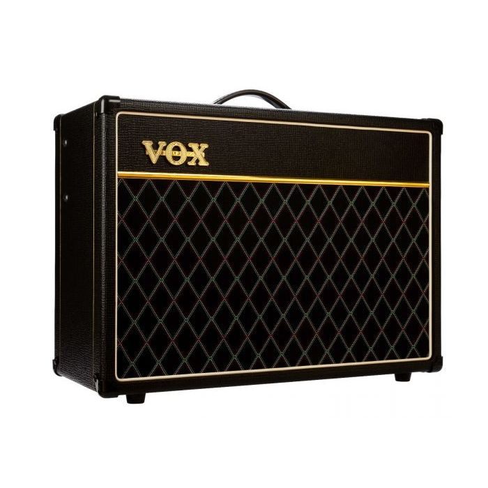 Angled View of Vox AC15C1-VB Limited Edition Vintage Black AC15 Guitar Amplifier