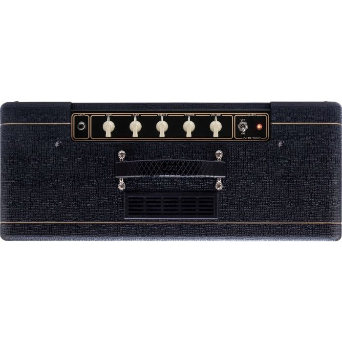 Top Down View of Vox AC10C1-VB Limited Edition Vintage Black AC10 Guitar Amplifier