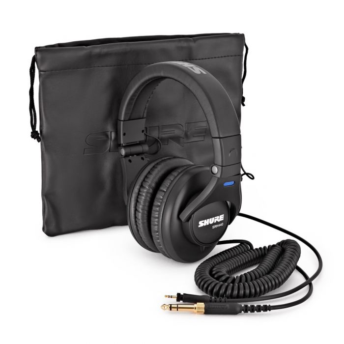 Shure SRH440 Headphones with Lead and Carry Bag