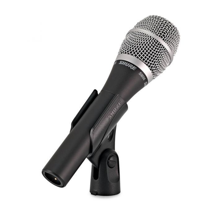Shure SM86 Condenser Vocal Microphone in clip Back view