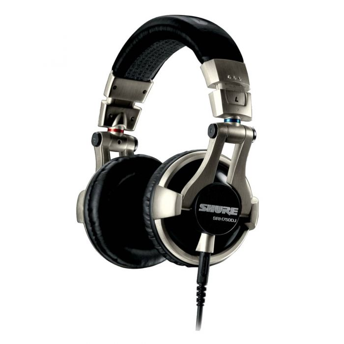 Shure SRH750DJ Professional DJ Headphones Front Angled view