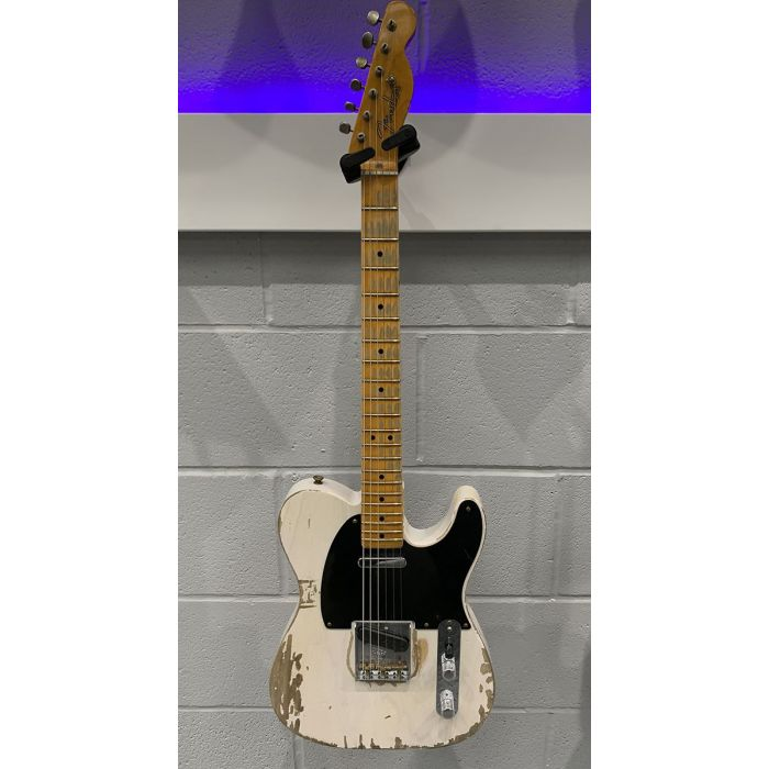 Full frontal view of a Pre-Loved Fender Custom Shop 51 Nocaster White Relic