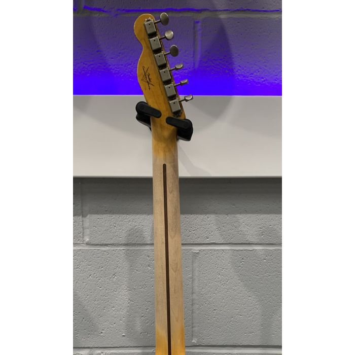 Rear view of the neck on a Pre-Loved Fender Custom Shop 51 Nocaster White Relic