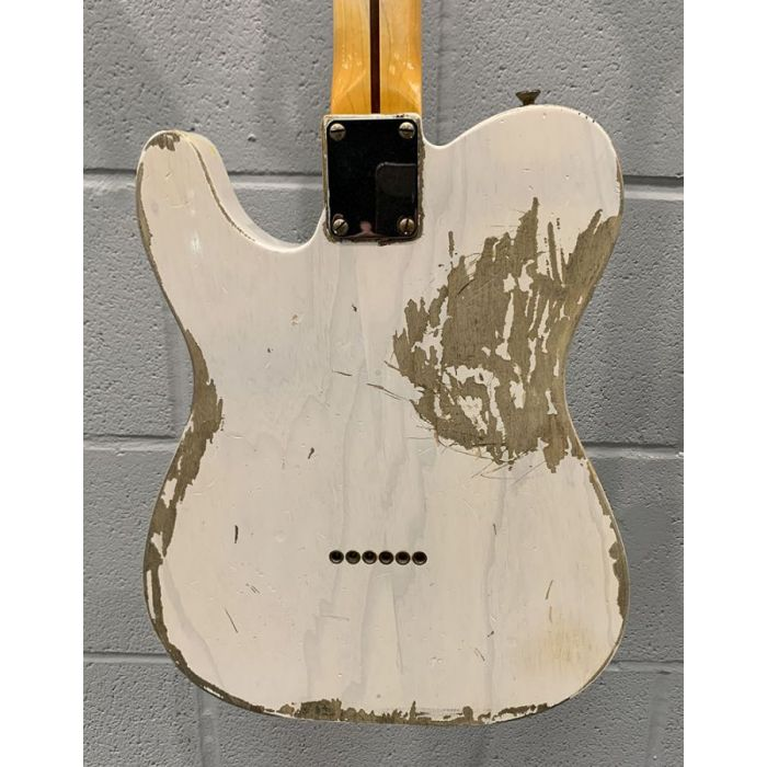 Rear view of the body on a Pre-Loved Fender Custom Shop 51 Nocaster White Relic
