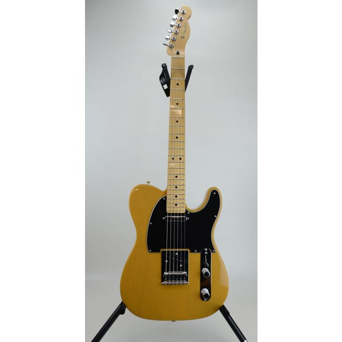 Full frontal view of a B Stock Fender Player Telecaster MN, Butterscotch Blonde
