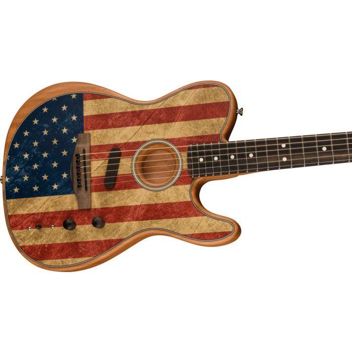 Fender American Acoustasonic Telecaster USA Flag Body