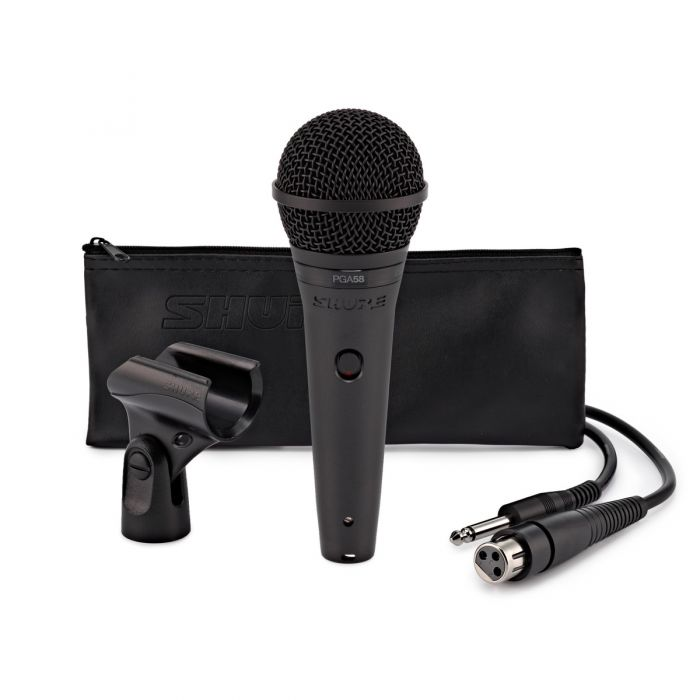 Shure PGA58 Vocal Microphone and Accessories