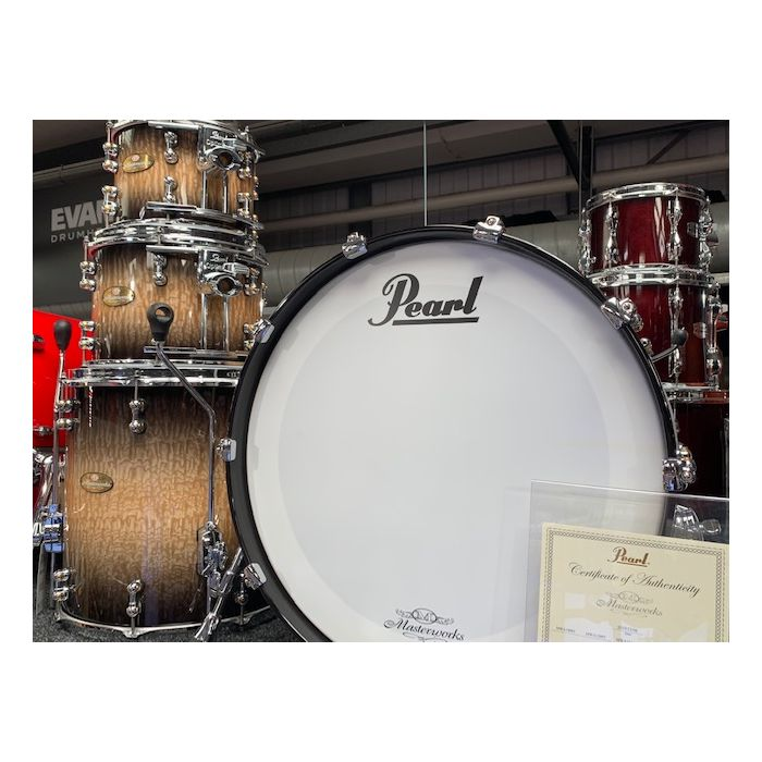 Pearl Masterworks 4-Piece Shell Pack Natural to Black Burst Tamo