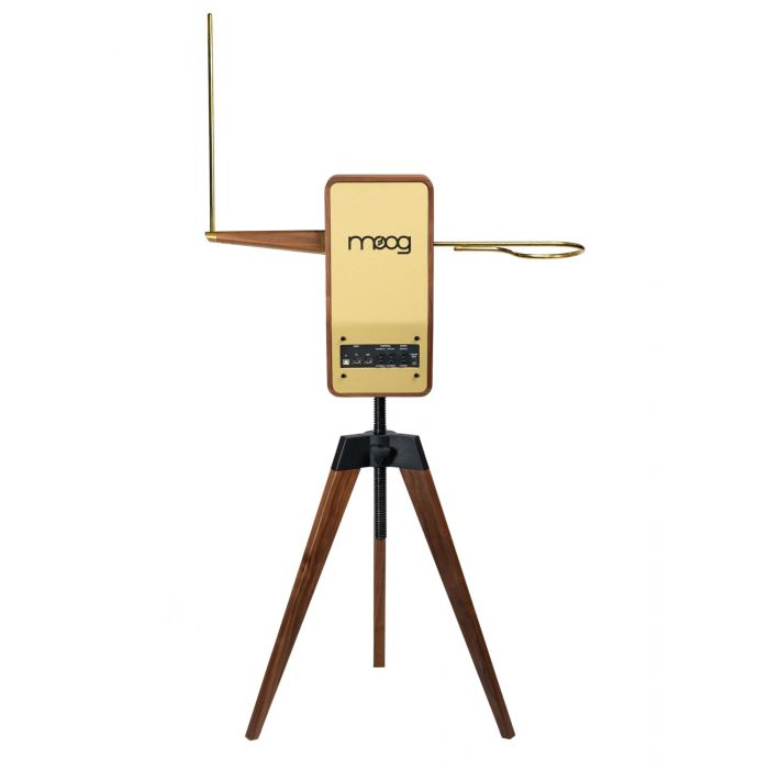 Rear View of Moog Claravox Centennial Theremin with Stand