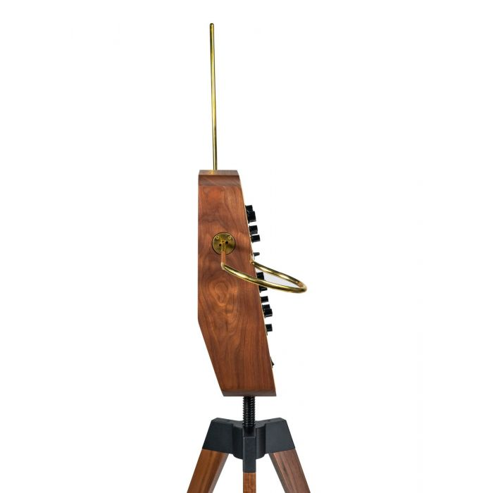 Side View of Moog Claravox Centennial Theremin with Stand