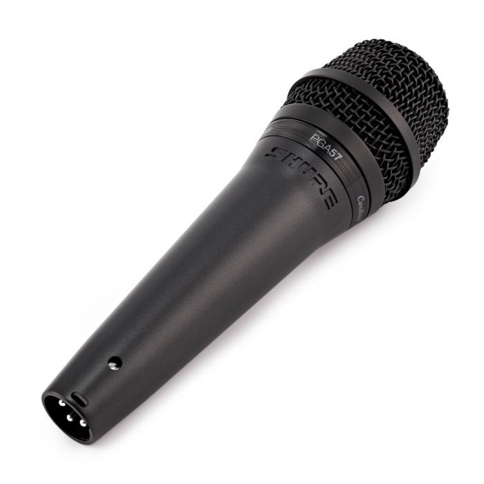 Shure PGA57 Cardioid Dynamic Instrument Microphone Angled View