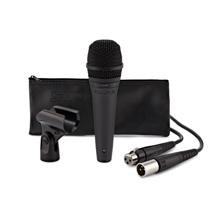 Shure PGA57 Cardioid Dynamic Instrument Microphone With Accessories