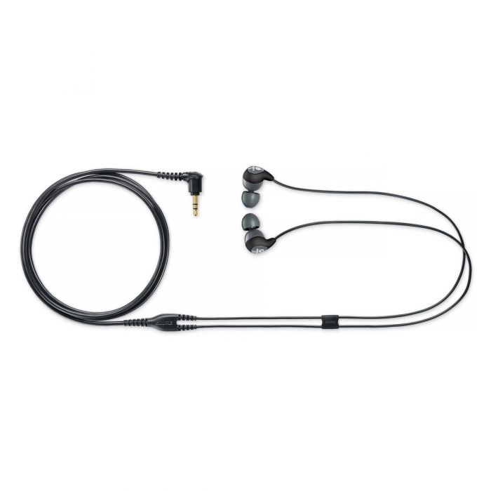 Shure SE115 Headphones Full View with Lead