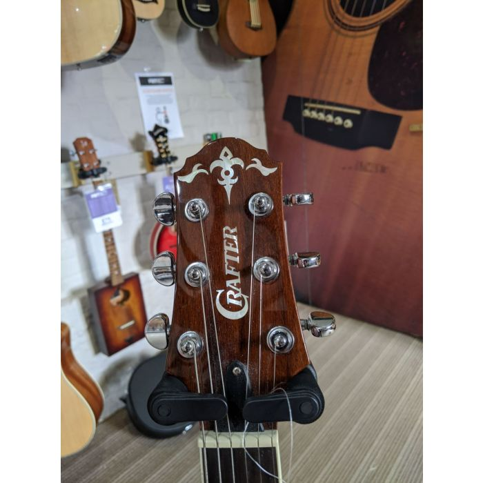 Pre-Loved Crafter SA-ARW Semi-Acoustic Guitar Headstock