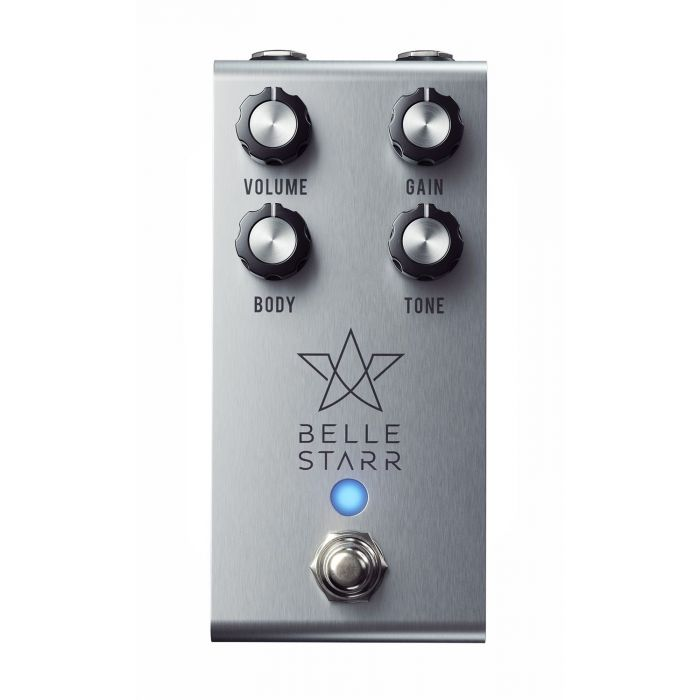 Top-down view of a Jackson Audio Belle Starr Drew Shirley Signature Drive Pedal