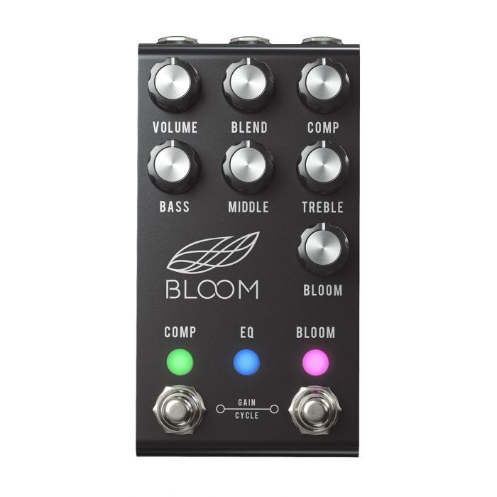 Top-down view of a Jackson Audio Bloom V2 MIDI Dual Compressor Pedal