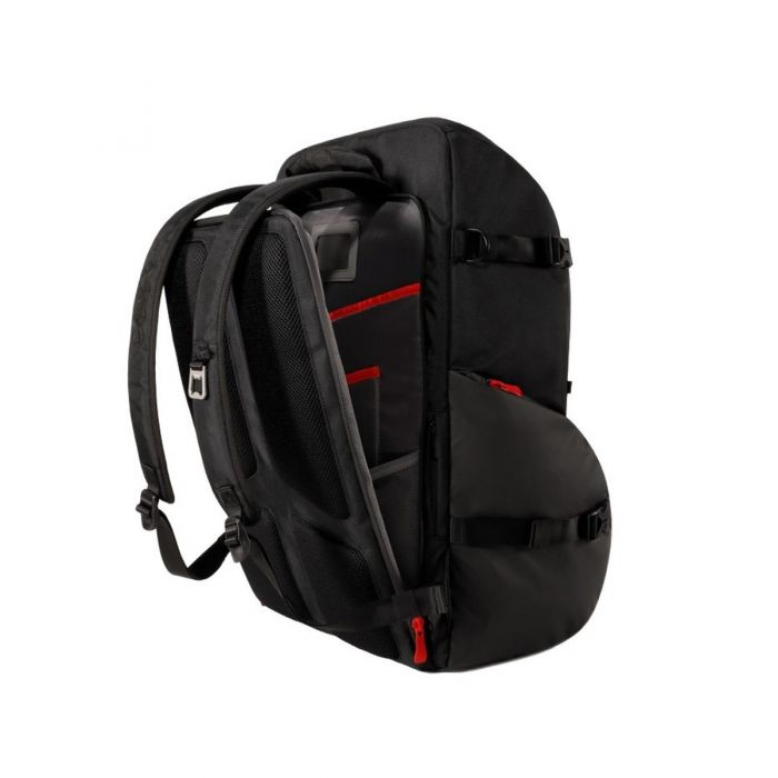 Back side view of the DAddario Backline Gear Transport Pack
