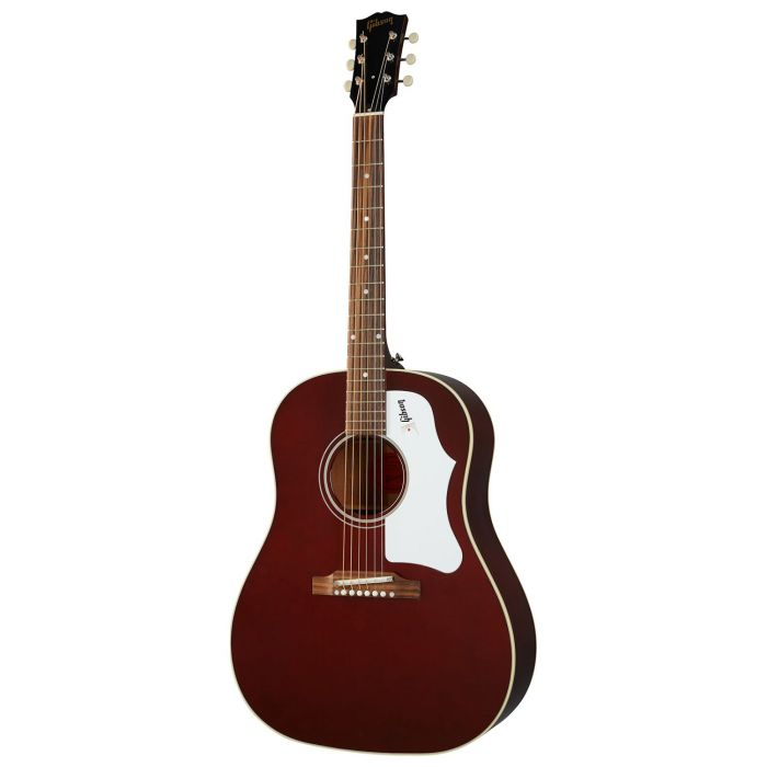 Full frontal view of a Gibson 60s J-45 Original Wine Red Acoustic Guitar